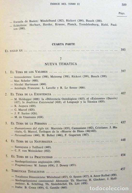 Libros de segunda mano: HISTORIA DE LA REFLEXIÓN, TOMO II: DE OCKHAM A LÉVI-STRAUSS - LUIS CENCILLO - 1972 - VER INDICE - Foto 7 - 216359521