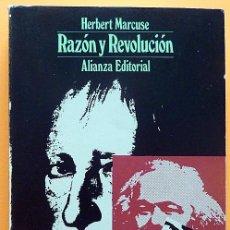 Libros de segunda mano: RAZÓN Y REVOLUCIÓN - HERBERT MARCUSE - ALIANZA EDITORIAL Nº 292 - 1972 - VER INDICE. Lote 217227411