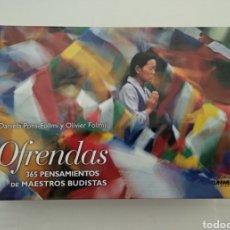 Libros de segunda mano: OFRENDAS - 365 PENSAMIENTOS DE MAESTROS BUDISTAS - VER FOTOS. Lote 217574988