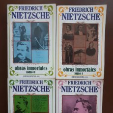 Libros de segunda mano: FRIEDRICH NIETZSCHE - OBRAS INMORTALES - 4 TOMOS. Lote 218353500