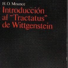 Libros de segunda mano: INTRODUCCION AL TRACTATUS DE WITTGENSTEIN. - MOUNCE, H. O.. Lote 218535355