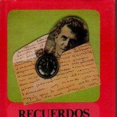 Libros de segunda mano: RECUERDOS DE WITTGENSTEIN. - RHEES, RUSH.. Lote 218535370