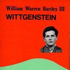 Libros de segunda mano: WITTGENSTEIN. - WARREN BARTLEY III, WILLIAM.. Lote 218535381