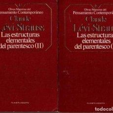 Libros de segunda mano: LAS ESTRUCTURAS ELEMENTALES DEL PARENTESCO. I Y II. - LEVI-STRAUSS, CLAUDE.. Lote 218535415