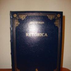 Libros de segunda mano: RETÓRICA - ARISTÓTELES - BIBLIOTECA BÁSICA GREDOS, COMO NUEVO. Lote 218568822