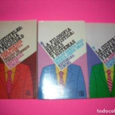 Livros em segunda mão: LOTE : 3 LIBROS DE FILOSOFIA - CINCEL. Lote 218663166
