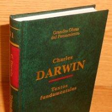 Libros de segunda mano: GRANDES OBRAS DEL PENSAMIENTO. DARWIN. TEXTOS FUNDAMENTALES. COMO NUEVO.. Lote 218748508