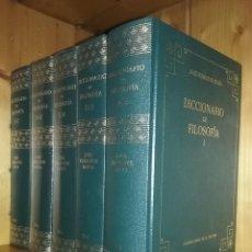 Libros de segunda mano: DICCIONARIO DE FILOSOFIA, JOSE FERRATER MORA, GRANDES OBRAS DE LA CULTURA, RBA, COMPLETO CINCO TOMOS. Lote 218718580