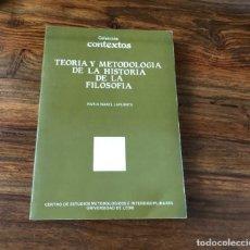 Libros de segunda mano: TEORÍA Y METODOLOGÍA DE LA HISTORIA DE LA FILOSOFÍA. MARIA ISABEL LAFUENTE. UNIVERSIDAD DE LEÓN. Lote 218977665