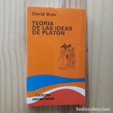 Libri di seconda mano: TEORÍA DE LAS IDEAS DE PLATÓN - DAVID ROSS. Lote 219485075