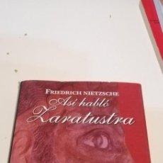Libros de segunda mano: G-42 LIBRO CLASICOS SELECCION ASI HABLO ZARATUSTRA FRIEDRICH NIETZSCHE. Lote 219756380