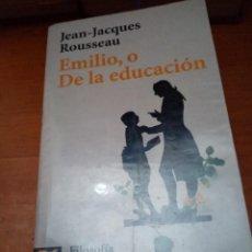 Libros de segunda mano: EMILIO, O DE LA EDUCACIÓN. FILOSOFIA. JEAN JACQUES ROUSSEAUR. EST16B1. Lote 220195468