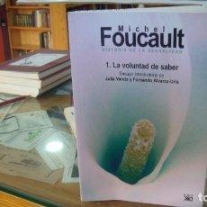 Libros de segunda mano: HISTORIA DE LA SEXUALIDAD. 1. LA VOLUNTAD DE SABER. - FOUCAULT, MICHEL.. Lote 221236113