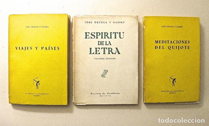 1951-1957. ORTEGA Y GASSET - LOTE TRES EDICIONES - REVISTA DE OCCIDENTE - VER TITULOS (Libros de Segunda Mano - Pensamiento - Filosofía)