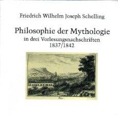 Libros de segunda mano: PHILOSOPHIE DER MYTHOLOGIE / F.W.J. SCHELLING - LIBRO EN ALEMÁN. Lote 221640730