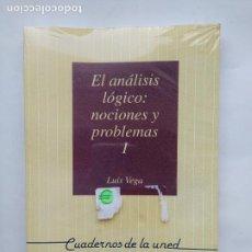 Libros de segunda mano: EL ANÁLISIS LÓGICO: NOCIONES Y PROBLEMAS I - INTRODUCCION FILOSOFIA DE LA LOGICA. LUIS VEGA. TDK538. Lote 221648112