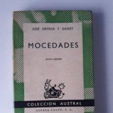 Libros de segunda mano: MOCEDADES - JOSÉ ORTEGA Y GASSET. Lote 222046362