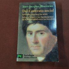 Libros de segunda mano: DEL CONTRATO SOCIAL - JEAN JACQUES ROUSSEAU - SOCIOLOGIA ALIANZA EDITORIAL - APB. Lote 222049038