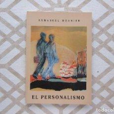 Libros de segunda mano: PACK EMMANUEL MOUNIER: EL PERSONALISMO Y BIOGRAFÍA (2). Lote 223097342
