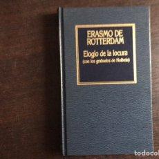 Livros em segunda mão: ELOGIO DE LA LOCURA. ERASMO DE ROTTERDAM. ORBIS. Lote 223656816
