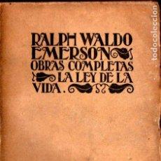 Libros de segunda mano: EMERSON : LA LEY DE LA VIDA (1940) INTONSO. Lote 224371745