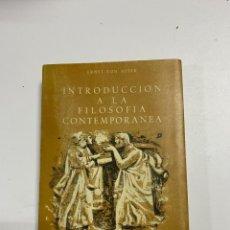 Libros de segunda mano: INTRODUCCION A LA FILOSOFIA CONTEMPORANEA. ERNST VON ASTER. GUADARRAMA.MADRID, 1961.PAGS:396. Lote 225313895