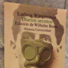 Libros de segunda mano: WITTGENSTEIN, LUDWIG: - DIARIOS SECRETOS. EDICIÓN DE WILHELM BAUM.. Lote 229620760
