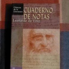 Libri di seconda mano: CUADERNO DE NOTAS LEONARDO DA VINCI 19 X 12 X 2.5. Lote 229915275
