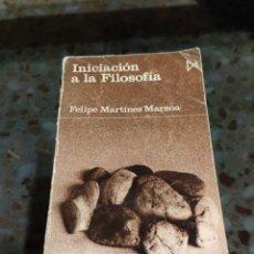 Livros em segunda mão: INICIACIÓN A LA FILOSOFÍA (FELIPE MARTÍNEZ MARZOA). Lote 230787770