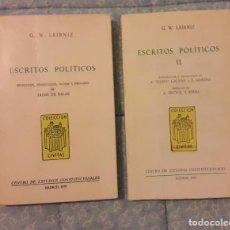 Livros em segunda mão: ESCRITOS POLÍTICOS. 2 TOMOS LEIBNIZ, G. W.. Lote 232339840