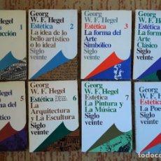 Libros de segunda mano: GEORG W.F.HEGEL - ESTÉTICA - OBRA COMPLETA 8 TOMOS.. Lote 232443820