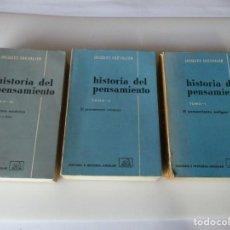 Libros de segunda mano: JACQUES CHEVALIER HISTORIA DEL PENSAMIENTO ( 3 TOMOS) W4950. Lote 232563510