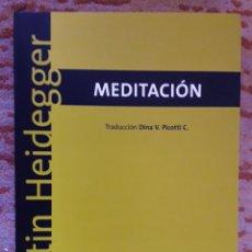 Libros de segunda mano: MEDITACIÓN -MARTIN HEIDEGGER- ED, BIBLOS. Lote 232867342