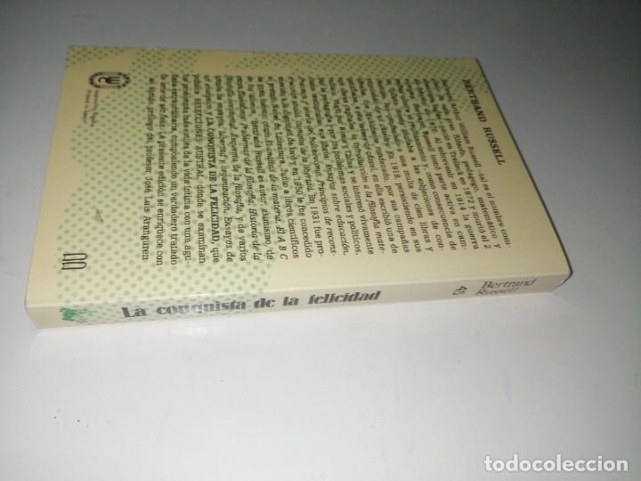 Libros de segunda mano: LA CONQUISTA DE LA FELICIDAD. BERTRAND RUSSELL - Foto 2 - 233331155