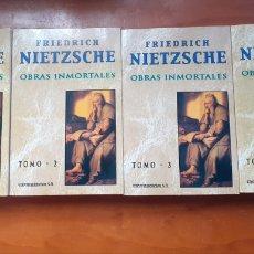 Libros de segunda mano: NIETZSCHE OBRAS INMORTALES, LOTE. Lote 233920605