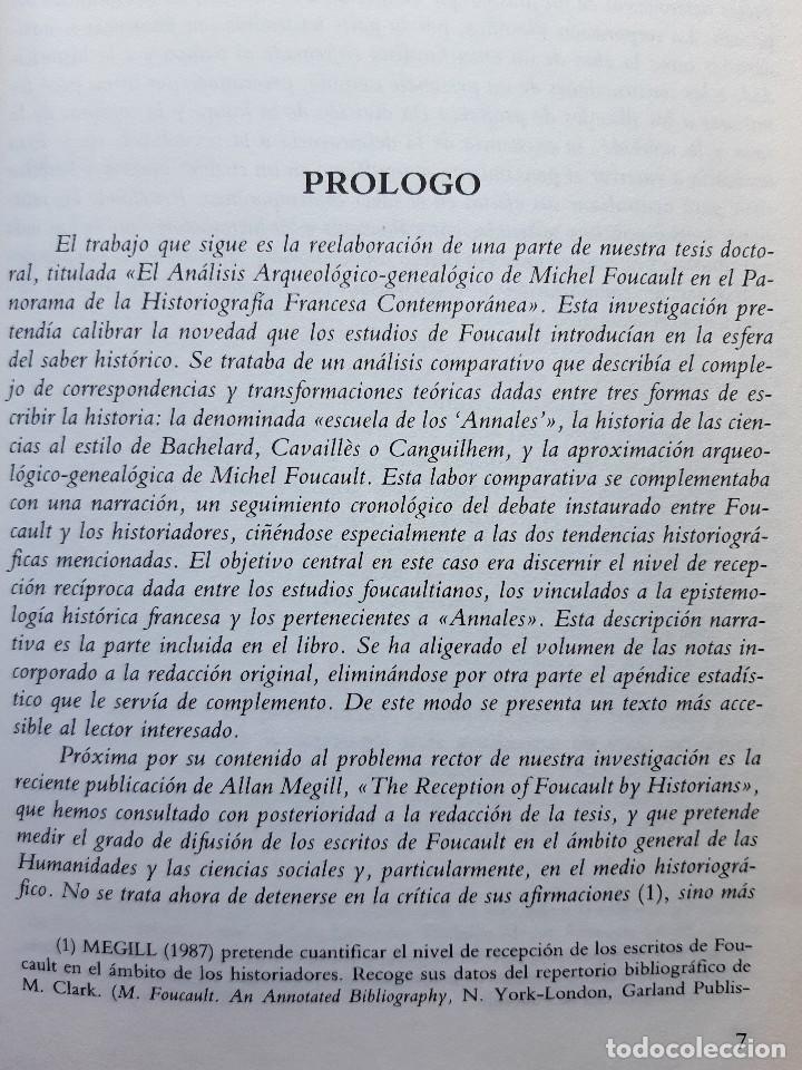 Libros de segunda mano: FOUCAULT Y LOS HISTORIADORES ANALISIS DE UNA COEXISTENCIA INTELECTUAL Francisco Jose Vazquez Garcia - Foto 11 - 233942070