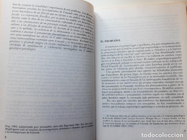 Libros de segunda mano: FOUCAULT Y LOS HISTORIADORES ANALISIS DE UNA COEXISTENCIA INTELECTUAL Francisco Jose Vazquez Garcia - Foto 12 - 233942070