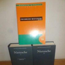 Libros de segunda mano: FRIEDRICH NIETZSCHE - OBRAS COMPLETAS 2 TOMOS + FOLLETO - GREDOS - DISPONGO DE MAS LIBROS. Lote 233992705