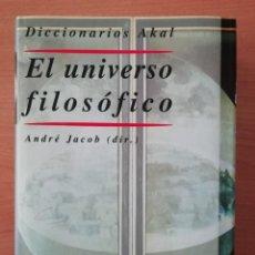 Libros de segunda mano: EL UNIVERSO FILOSÓFICO AKAL. Lote 234391350