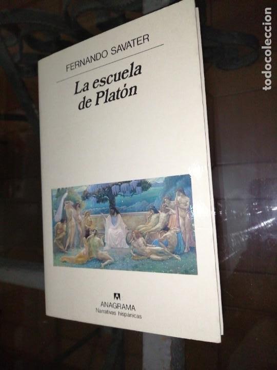 FERNANDO SAVATER , LA ESCUELA DE PLATÓN (Libros de Segunda Mano - Pensamiento - Filosofía)