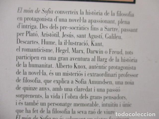 Libros de segunda mano: EL MÓN DE SOFIA, Jostein Gaarder - Foto 14 - 235375670
