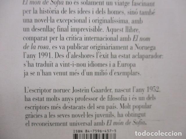 Libros de segunda mano: EL MÓN DE SOFIA, Jostein Gaarder - Foto 15 - 235375670