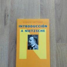 Livros em segunda mão: INTRODUCCIÓN A NIETZSCHE. GIANNI VATTIMO.. Lote 235437895