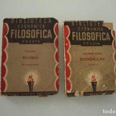 Libros de segunda mano: BIBLIOTECA ECONOMICA FILOSOFICA ZOZAYA SOCIEDAD GENERAL DE LIBREROS 1885. Lote 235451125