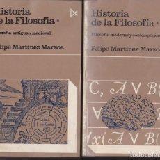 Libros de segunda mano: HISTORIA DE LA FILOSOFÍA - DOS TOMOS - F. MARTÍNEZ MARZOA. Lote 235662975