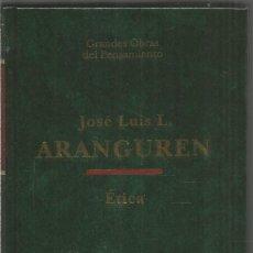 Livros em segunda mão: JOSE LUIS L. ARANGUREN. ETICA. ALTAYA. Lote 235801215