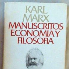 Libros de segunda mano: MANUSCRITOS ECONOMÍA Y FILOSOFÍA - KARL MARX - ALIANZA EDITORIAL 1995 - VER DESCRIPCIÓN. Lote 236139200