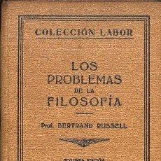 Libros de segunda mano: LOS PROBLEMAS DE LA FILOSOFÍA Nº 176 - COLECCIÓN LABOR. Lote 236551390