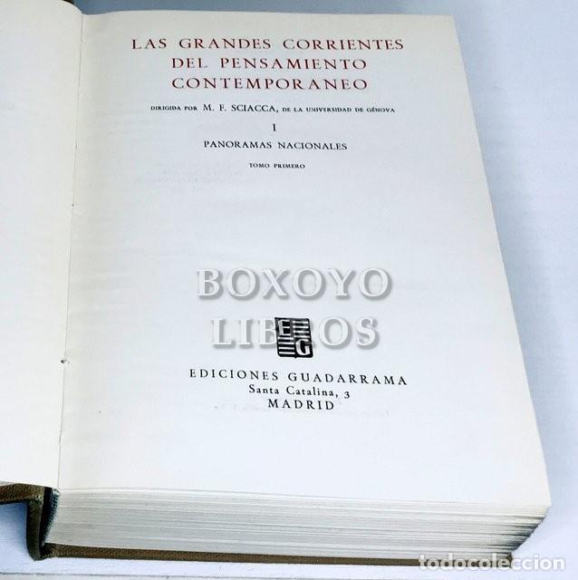 Libros de segunda mano: SCIACCA, M. F. [Director]. Las grandes corrientes del pensamiento contemporáneo. Panoramas nacionale - Foto 2 - 236732925