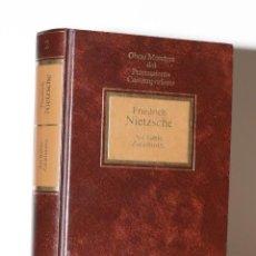 Libros de segunda mano: FRIEDRICH NIETZSCHE - ASÍ HABLÓ ZARATUSTRA. Lote 238220695